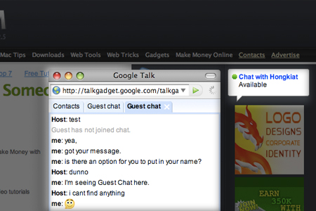 google gtalk chatback