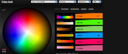 Generatore di abbinamenti cromatici , links lavoro  , colorjack