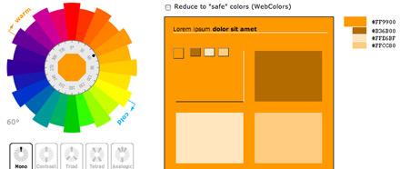Generatore di abbinamenti cromatici , links lavoro  , colorschemegen
