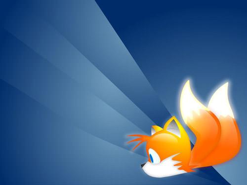 zorro volador fondo firefox