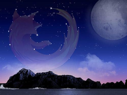 fondo luna y mar firefox