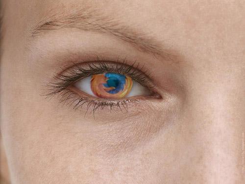 fondo ojo de firefox