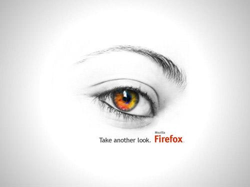 Fondo ojo sobre blanco firefox