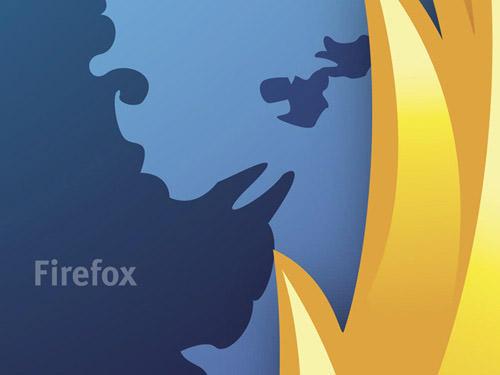 fondo dorado azul firefox