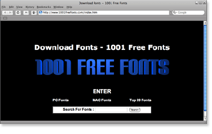 1001freefonts 21 Most Visited Free Fonts Site