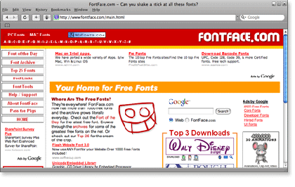 fontface 21 Most Visited Free Fonts Site