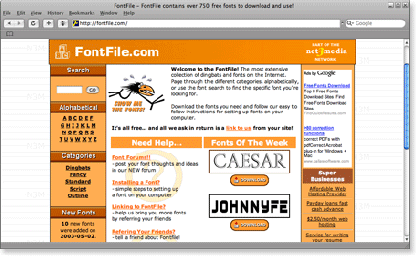 fontfile 21 Most Visited Free Fonts Site