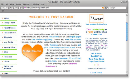 fontgarden 21 Most Visited Free Fonts Site