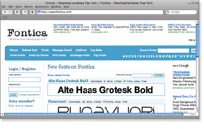fontica 21 Most Visited Free Fonts Site