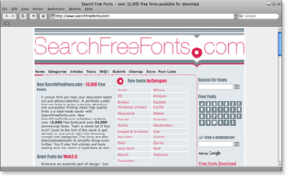 searchfreefonts 21 Most Visited Free Fonts Site