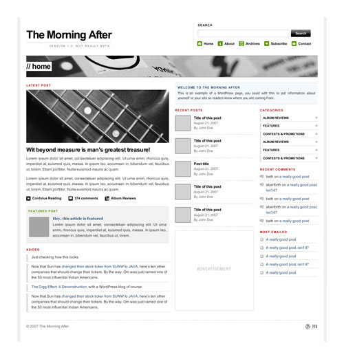 morningafter 16 Free Premium WordPress Themes That Dont Suck
