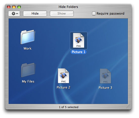 hide files folders in mac
