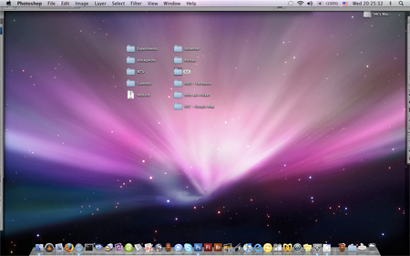 Picture of Mac computer screen