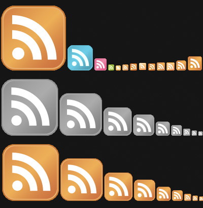 RSS Feeds icons perishable