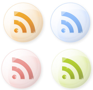 RSS Feeds Icons Set
