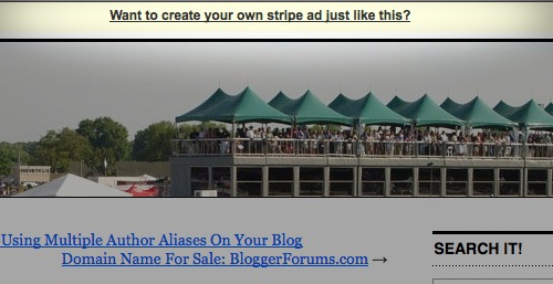 stripe ad Add Stripe Ad to Your Blog / Website, The Free Ways