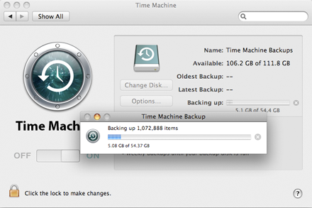 time machine for mac