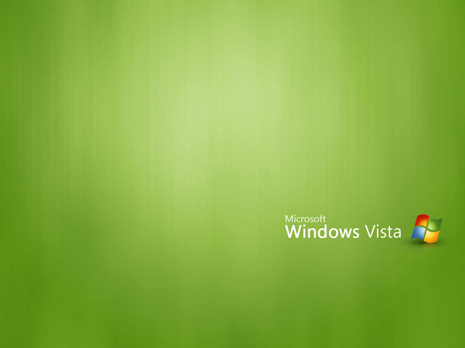 Vista go green wallpaper