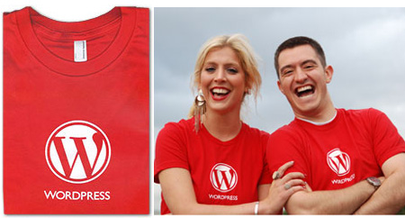wordpress red t WordPress New T Shirts Going International Shipping