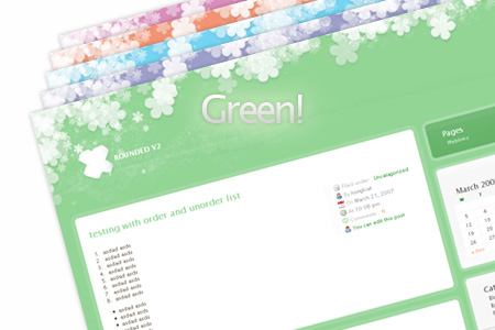 rounded green Update: Rounded WordPress Theme   5 More Colors