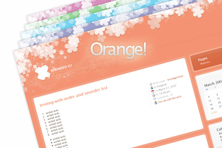 rounded orange Update: Rounded WordPress Theme   5 More Colors